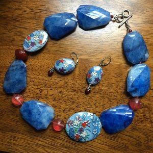 Gilded Lily NWOT Enamel Ceramic Stone & Torch-work
